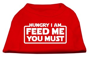 Hungry I am Screen Print Shirt Red XL (16)